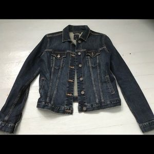 Gap XS dark blue jean jacket
